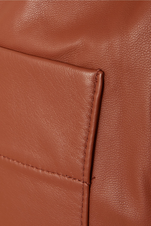 Tibi Leather tapered pants