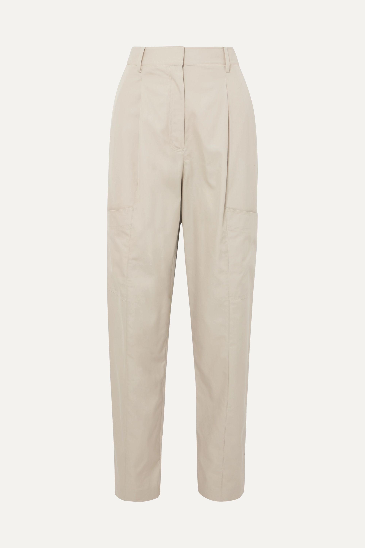 Tibi Finn cotton-twill tapered pants