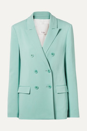 Tibi Steward oversized double-breasted stretch-crepe blazer