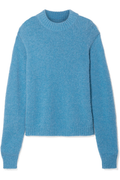 Cozette Oversized Alpaca-Blend Sweater in Blue