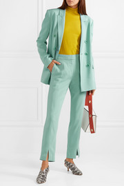 Tibi Beatle stretch-crepe straight-leg pants