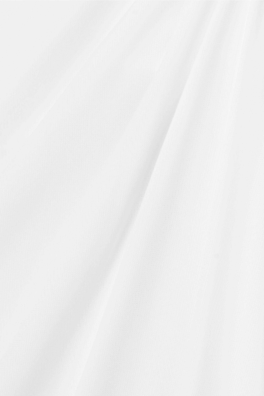 Galvan Robe de mariée dos nu en jersey stretch et en crêpe nouée sur le devant