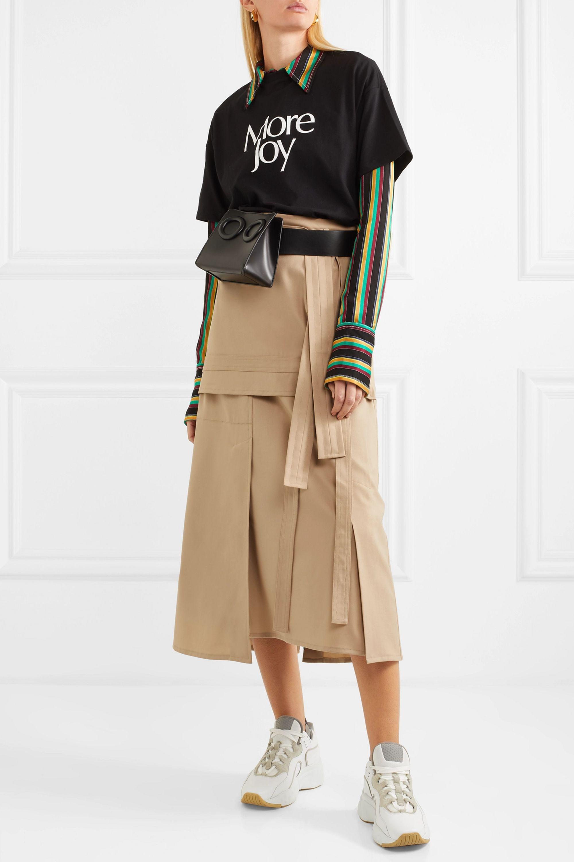 3.1 Phillip Lim Belted wool-blend midi skirt