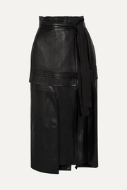 3.1 Phillip Lim Belted leather midi skirt