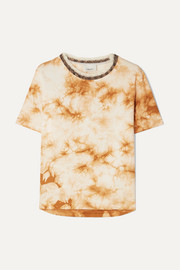 3.1 Phillip Lim Wool-trimmed tie-dye cotton-jersey T-shirt