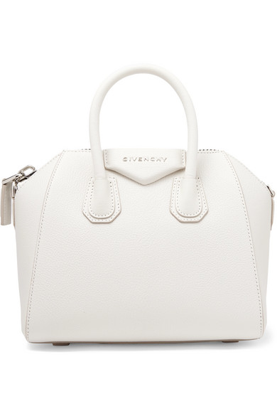 Givenchy Antigona Mini Leather Satchel Bag, White