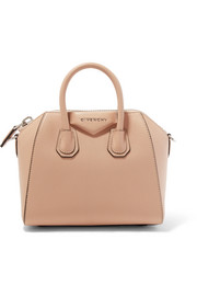 Antigona mini textured-leather tote