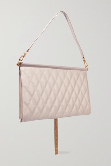 Givenchy Shoulder Gem large quilted glossed-leather shoulder bag