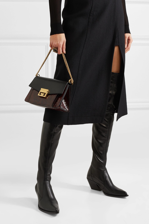 Givenchy GV3 small leather and python shoulder bag
