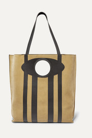 Loewe Chair large suede and leather tote