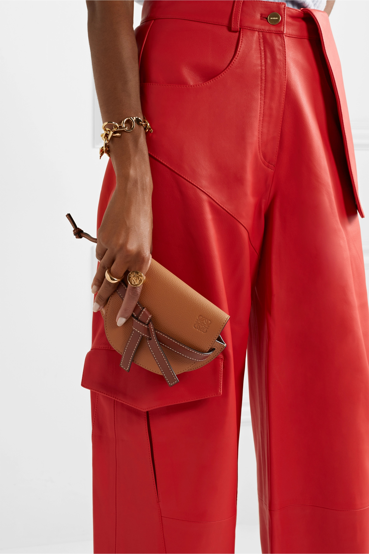 Loewe Sac porté épaule en cuir texturé Gate Mini