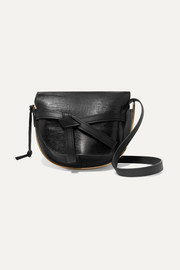 Loewe Gate medium smooth and lizard-effect leather shoulder bag