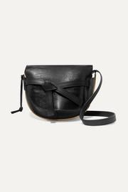 로에베 LOEWE Gate medium smooth and lizard-effect leather shoulder bag