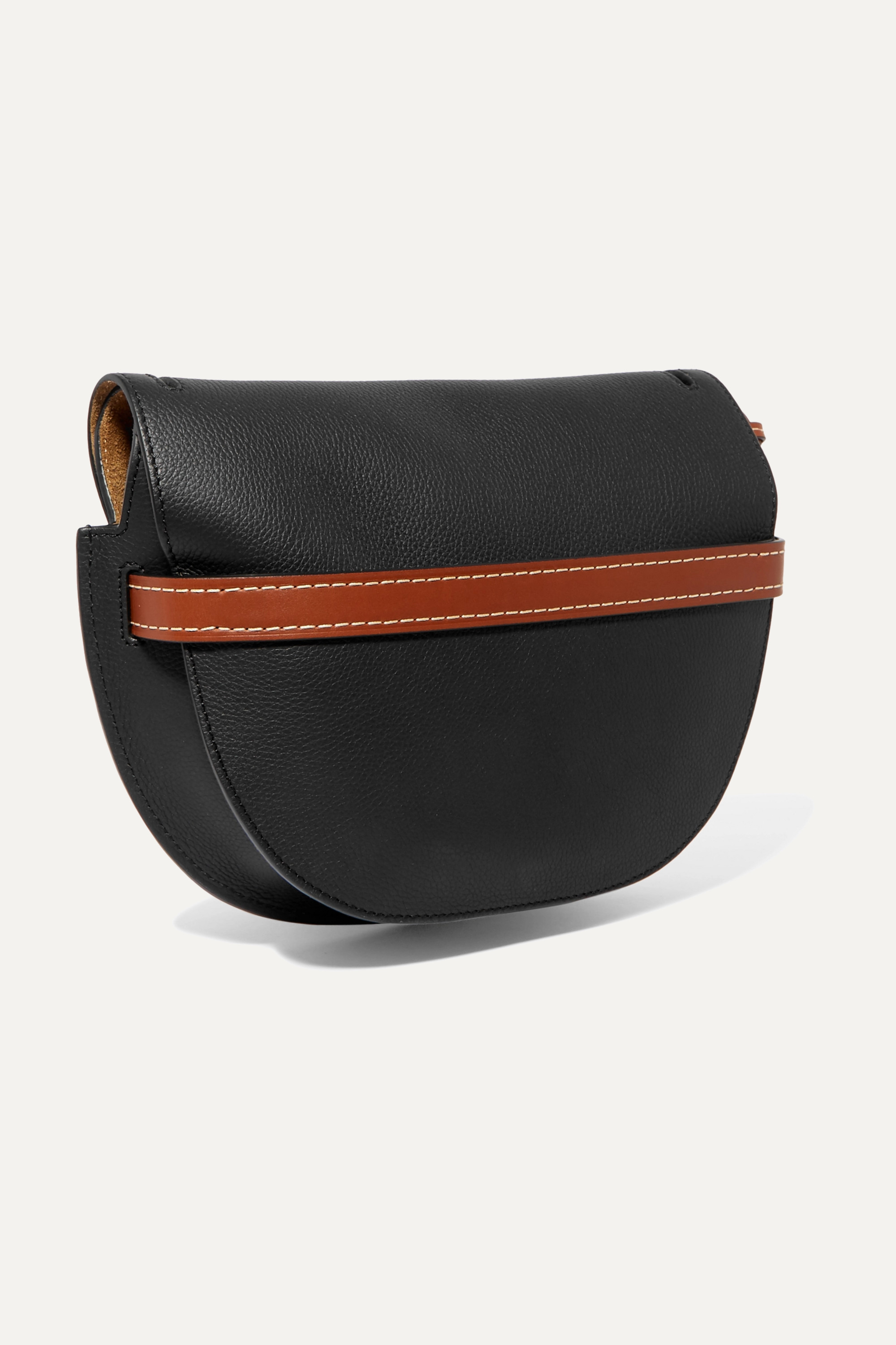 Loewe Gate small textured-leather shoulder bag