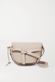 Gate small textured-leather shoulder bag