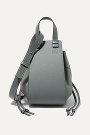 로에베 LOEWE Hammock Dw medium textured-leather shoulder bag