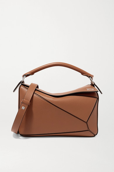 9e2045e9ab11 Loewe. Puzzle small textured-leather shoulder bag