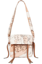 Loewe Faces small leather-trimmed printed canvas shoulder bag