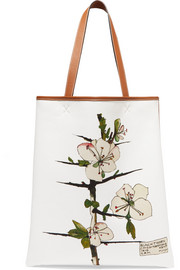 Loewe Printed canvas and leather tote
