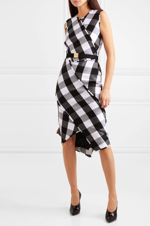 Altuzarra Gina gingham wool-blend twill dress