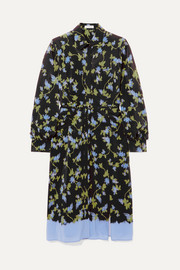 Strada floral-print silk crepe de chine dress