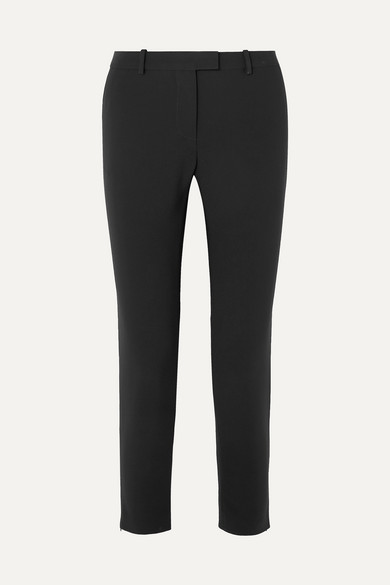 Henri Cady Straight-Leg Pants in Black