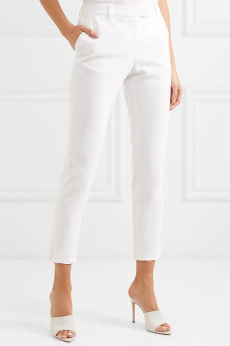 Henri cady straight-leg pants