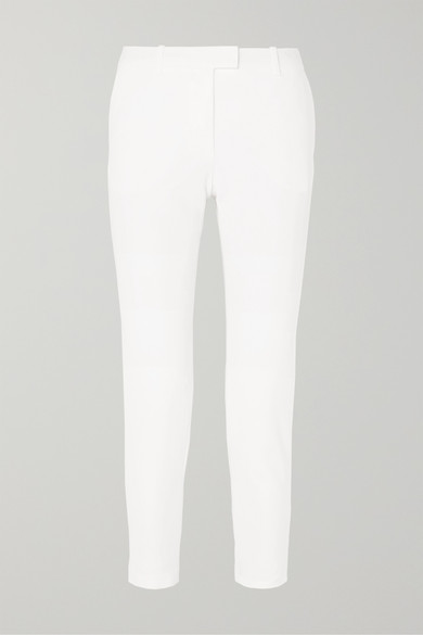 Henri Cady Straight-Leg Pants in White