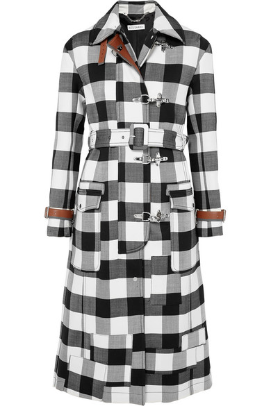 Agrippina Checked Wool-Blend Coat in Black