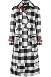Agrippina checked wool-blend coat