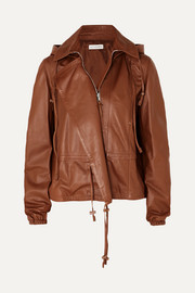 Livila hooded leather jacket