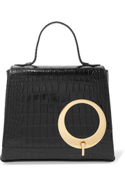 Harriet small croc-effect leather tote