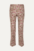 4d8fda8132c Giambattista Valli Floral-jacquard straight-leg pants