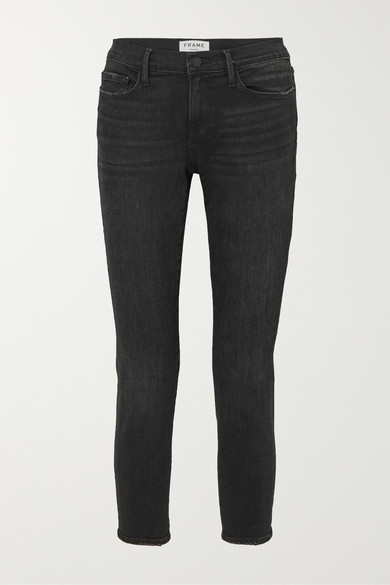 Le Garcon Cropped Slim-Leg Jeans in Black