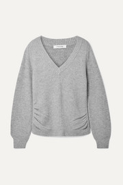 FRAME Ruched wool and cashmere-blend sweater