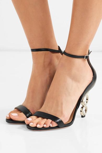 Aquazzura Sandals + Anissa Kermiche So Anissa leather sandals