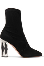 + Noor Fares So Noor embellished suede sock boots
