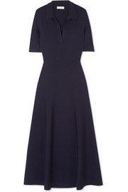 Wool-blend midi dress
