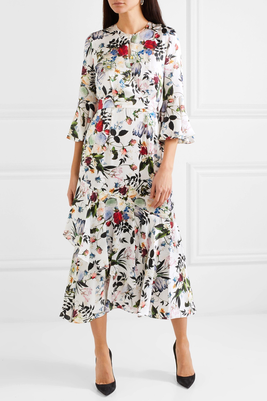Erdem Florence floral-print silk midi dress