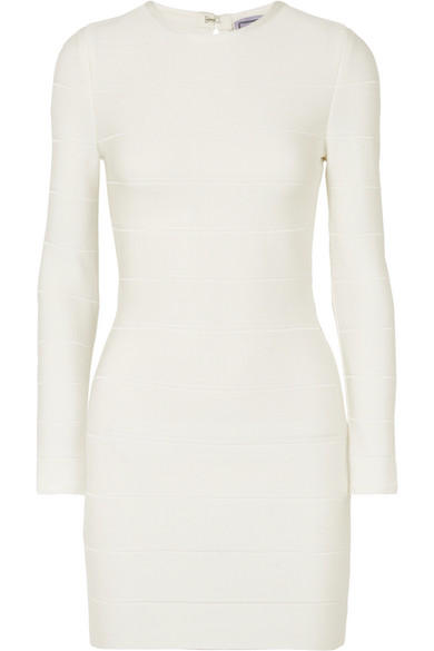 Bandage Mini Dress in White