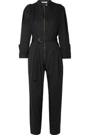 Hemingway belted cotton-twill jumpsuit