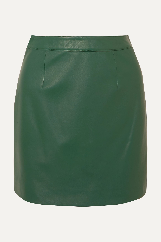 ALEXACHUNG B-Line leather mini skirt