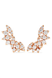 + Hearts on Fire White Kites Flight large 18-karat rose gold diamond earrings