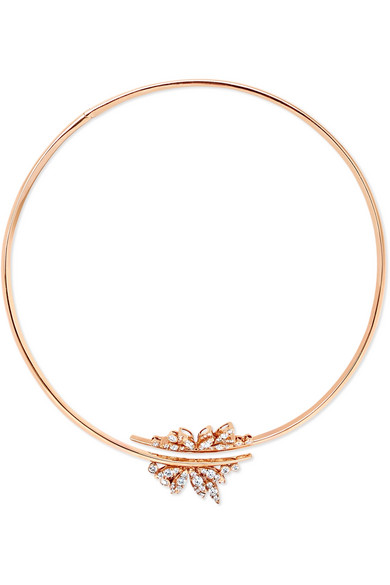+ Hearts On Fire 18 Karat Rose Gold Diamond Necklace by Stephen Webster