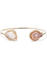 18-karat rose gold multi-stone cuff