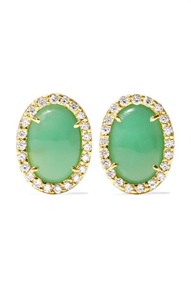 18-Karat Gray Gold, Turquoise And Diamond Earrings