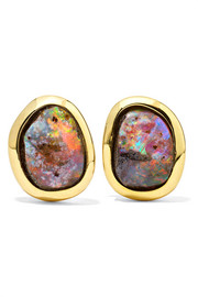 Kimberly McDonald 18-karat gold opal earrings