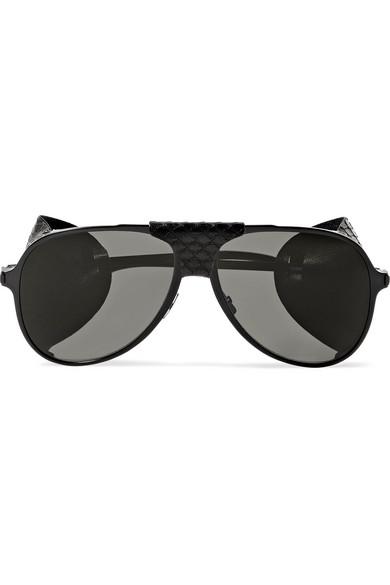 da514f34ed11f SAINT LAURENT. Classic 11 aviator-style metal sunglasses