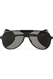 Saint Laurent Classic 11 aviator-style metal sunglasses