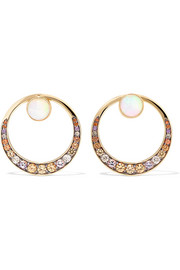 Svadhisthana 18-karat gold multi-stone earrings